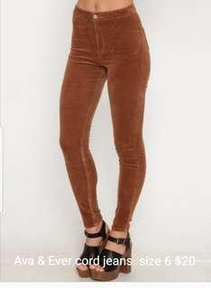 Tan cord jeans