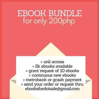 EBOOK BUNDLE (2K available ebooks and counting)