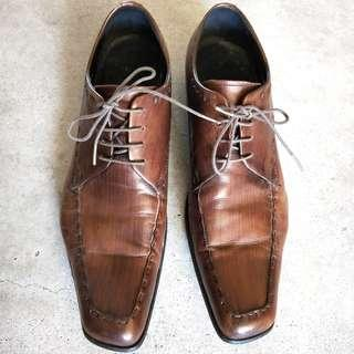 Brown Leather Shoes, Size 26.5