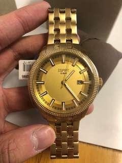Esprit plated gold steel watch (original px EUR 189.9)