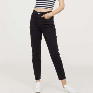 H&M Black Highwaisted Jeans Vintage Fit Slim Mom Boyfriend Jeans [SOLD]
