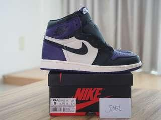 9US Air Jordan 1 HIGH OG Court Purple