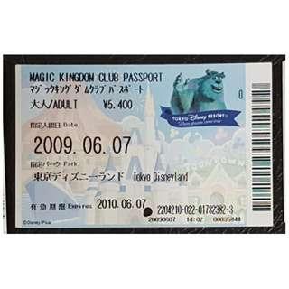 (1K) MAGIC KINGDOM CLUB PASSPORT - TOKYO DISNEY, $18 包郵