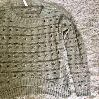 Silver Grey Knit Sweater (Australia brand)