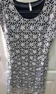 Story Black and White Dress