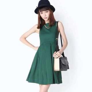 AFA Ambrosia Midi Dress, Forest Green