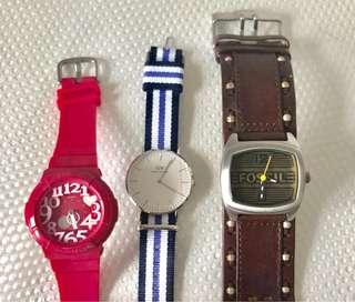 DW, Baby G, Fossil watch