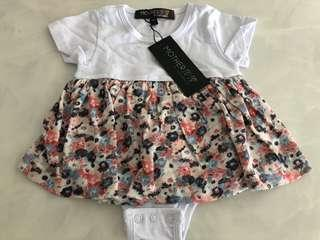 [Brand New] (3M) Jump Eat Cry Baby Girl Romper