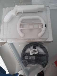 New Wii wheels and gun