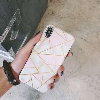 iPhone X Pink Marble Soft Case