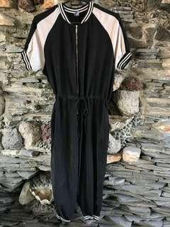 Black Sporty Jumpsuit