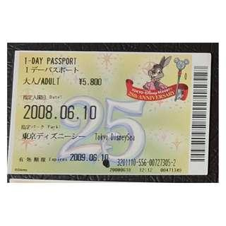 (1K) ONE DAY PASSPORT - TOKYO DISNEY 25 週年, $30 包郵