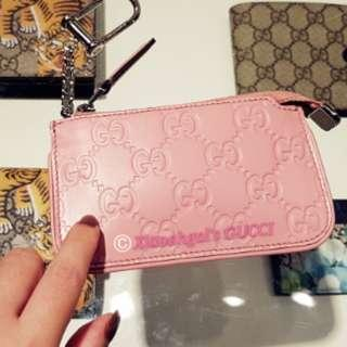 🌟RECEIPT🌟🌞AUCTION (Retail $599)▶️FOLLOWERS BENEFITS!!🌞❌Non Followers Buy It Now @$599❌👜AUTHENTIC BRAND NEW👜🌹SEASONAL DESIGN🌹GUCCI Baby Pink Key Purse/Wallet (Cards/notes)💋No Pet No Smoker CLEAN hse💋