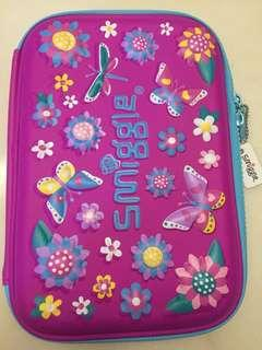 Smiggle flowers and butterfly pencil case