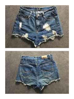 Highwaist Tattered Shorts Size 28