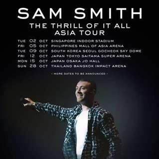Sam smith singapore ticket concert selling fast