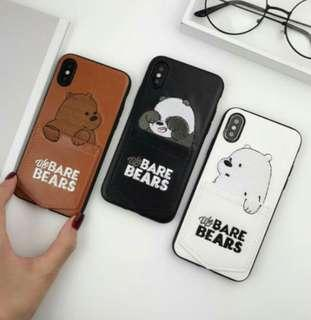 Iphone 7+/8+ Leather We Bare Bear Covers 😍