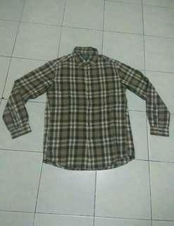 Kemeja Flannel Uniqlo 2nd Original (not H&M, pull and bear)