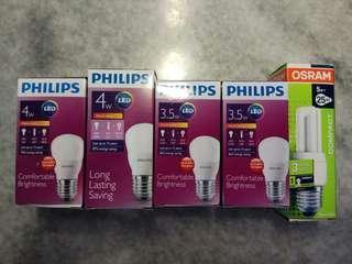 Philips n Osram bulbs