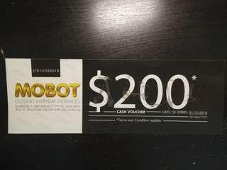$200 discount off MOBOT !