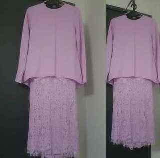 Locka lilac kurung in size S (UK8) - Free postage