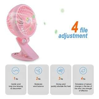 🚚 Generic Home-Summer Mini ABS Intelligent Cooling Fan with Desk Clip 3 Speed Adjustable