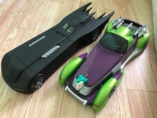 Kenner Batmobile and Custom JokerMobile