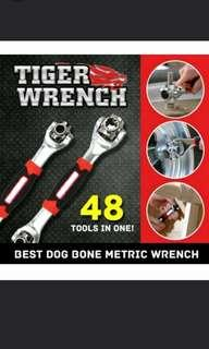 NEW!! Tiger Wrench 48 in 1 BEST Dog Bone Metric Wrench