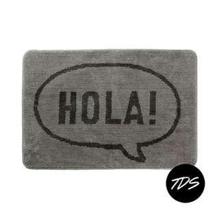 ⚡️ Hola! Typography Bath/Floor Mat in Grey