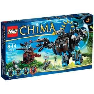 LEGO CHIMA 70008 Gorzan's Gorilla Striker : Grumlo, G'Loona Rizzo