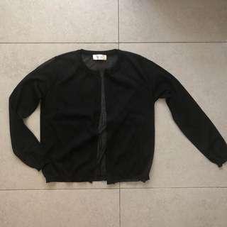 Brand new korea black cardigan 全新黑色外套