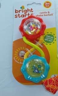 Bright starts baby rattle