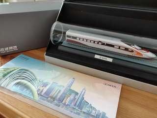 香港高鐵動感號首日開通紀念模型