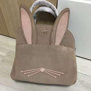 Kate Spade 兔仔麂皮袋