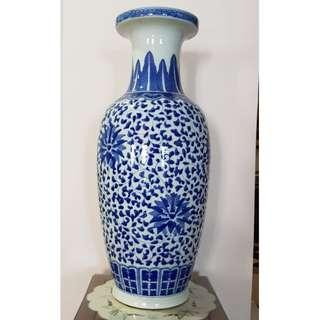 Traditional Porcelain Flower Chinese Vase Blue White