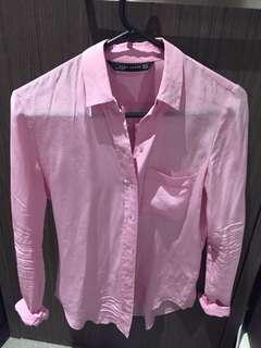 Zara 100% silk shirt lilac XS