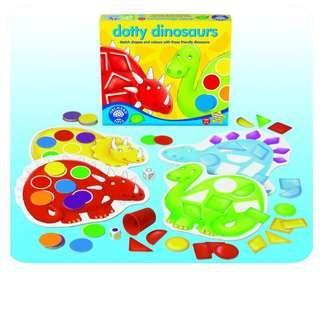 Orchard Toys Dotty Dinosaurs - Shapes & Colours Matching Game