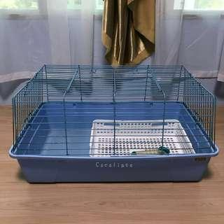 Blue Pet Cage + Accessories
