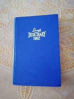 1962 Desk diary unused