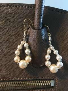 Swarovski Pearls Ear rings