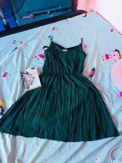 Basic Dress color green