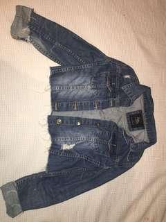 Cotton on crop denim jacket, size small
