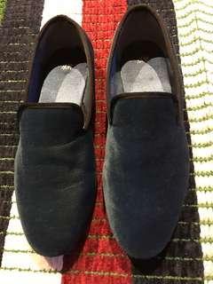 H&M Velvet Loafers