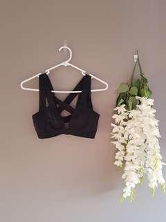 Bralette bra festival crop black 12
