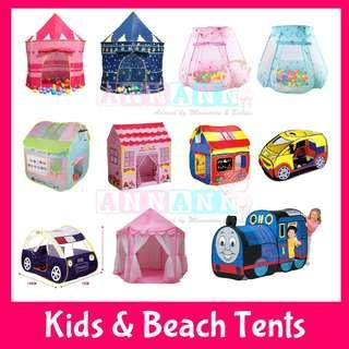 ★FREE GIFT★Children Play Tents★Beach One Click Tent★Castle House Princess Tent★Air Filled Balls★Car Train Bus Truck Doll House Thomas Train★Kids Children Birthday Gift