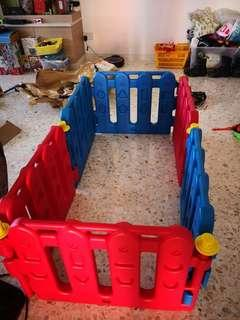 Baby play area barrier