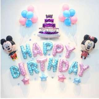 🚚 (In Stock)Mickey Mouse Birthday Party Decoration Set-Happy Birthday