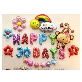 🚚 (In Stock)Baby Full Month Party Decoration Set-Happy 30 days