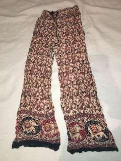 Patterned flowy pants, bought in Fiji