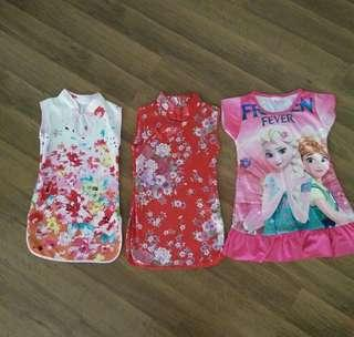 3x Dresses for 2 years old